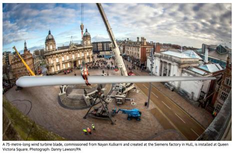 wind, turbine, blade, Hull, installation, renewable, energy, public space, urban, art, what is art
