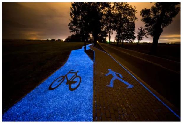 Poland, Roosegaard, solar, bike path, Van Gogh