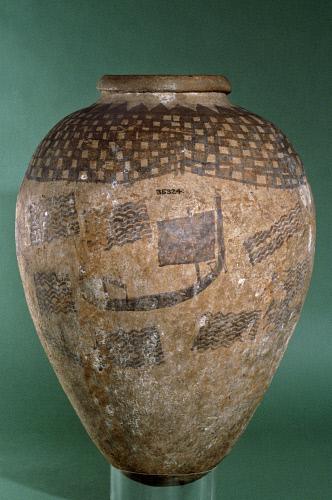 wind, sail, Egypt, Naqada, vase, jar, linen