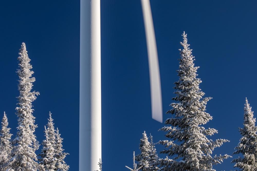 Joan Sullivan, wind, Canada, photographer, winter, blur, renewable, energy, transition